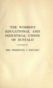 Cover of: The Women's Educational and Industrial Union of Buffalo