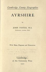 Cover of: Ayrshire