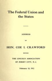 Cover of: The Federal Union and the States