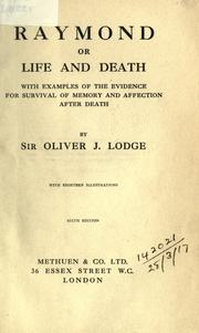 Cover of: Raymond, or, Life and death