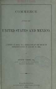 Cover of: Commerce between the United States and Mexico