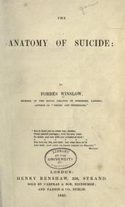 Cover of: The anatomy of suicide