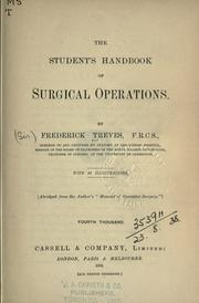 Cover of: The student's handbook of surgical operations