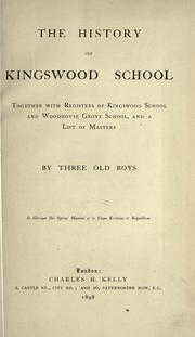 Cover of: The history of Kingswood School