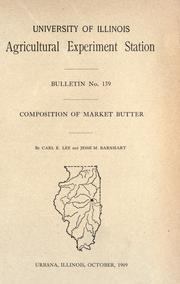 Cover of: Composition of market butter