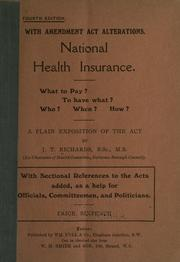 Cover of: National health insurance