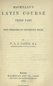 Cover of: Macmillan's Latin course