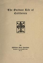 Cover of: The outdoor life of California