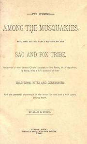 Cover of: Two summers among the Musquakies