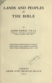 Cover of: Lands and peoples of the Bible