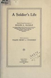 Cover of: A soldier's life