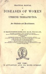 Cover of: Practical manual of diseases of women and uterine therapeutics