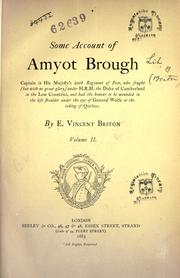 Cover of: Some account of Amyot Brough