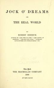 Cover of: Jock o'Dreams; or, The real world