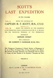 Cover of: Scott's last expedition ... Vol. 1