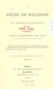 A study of religion by James Martineau