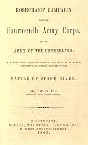 Cover of: Rosecrans' campaign with the fourteenth army corps, or the Army of the Cumberland