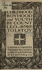 Cover of: Childhood, boyhood, and youth | Leo Tolstoy