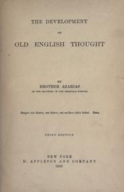 Cover of: The development of the old English thought