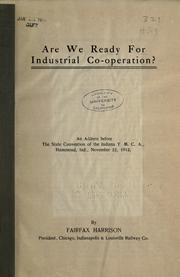 Cover of: Are we ready for industrial co-operation?