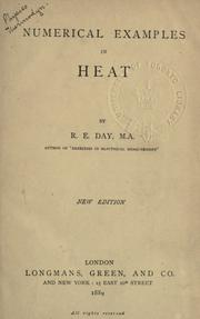 Cover of: Numerical examples in heat