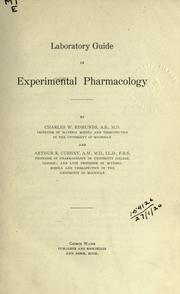 Cover of: Laboratory guide in experimental pharmacology