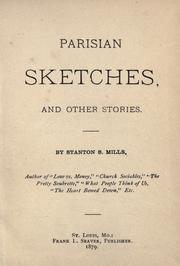 Cover of: Parisian sketches