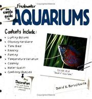 Cover of: The simple guide to freshwater aquariums