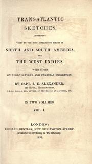 Cover of: Transatlantic sketches, comprising visits to the most interesting scenes in North and South America, and the West Indies