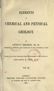 Cover of: Elements of chemical and physical geology