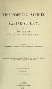 Cover of: Microscopical studies in marine zoology