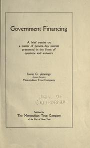 Cover of: Government financing