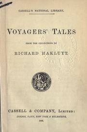 Cover of: Voyagers' tales from the collections of Richard Hakluyt