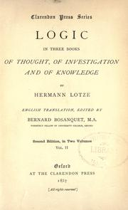 Cover of: Logic, in three books