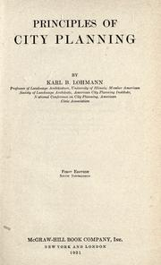 Principles of city planning by Karl Baptiste Lohmann