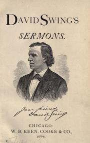Cover of: David Swing's sermons
