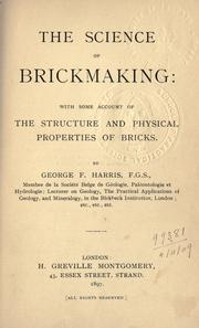 Cover of: The science of brickmaking