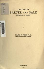 Cover of: The laws of barter and sale according to Talmud