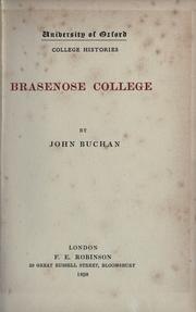 Cover of: Brasenose college