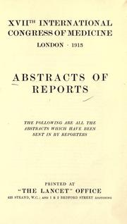 Cover of: Abstracts of reports