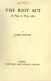 Cover of: The riot act
