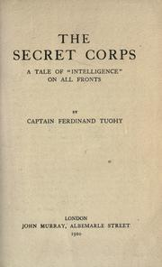 Cover of: The secret corps