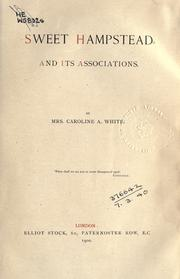 Cover of: Sweet Hampstead and its associations