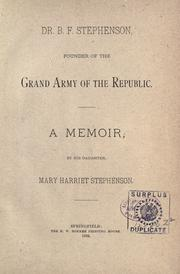 Cover of: Dr. B. F. Stephenson