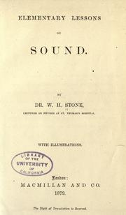 Cover of: Elementary lessons on sound ..