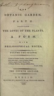 The botanic garden by Erasmus Darwin
