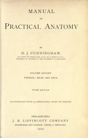 Manual of practical anatomy by D. J. Cunningham