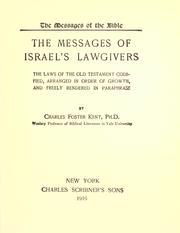 Cover of: The messages of Israel's lawgivers
