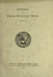 Cover of: Journal of Prior William More