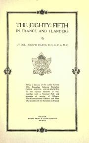 Cover of: The Eighty-fifth in France and Flanders